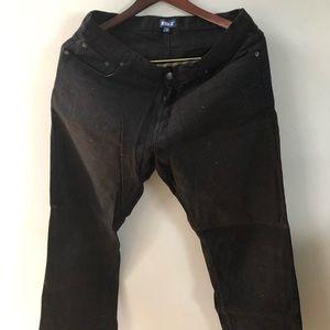 Mens black jean pants